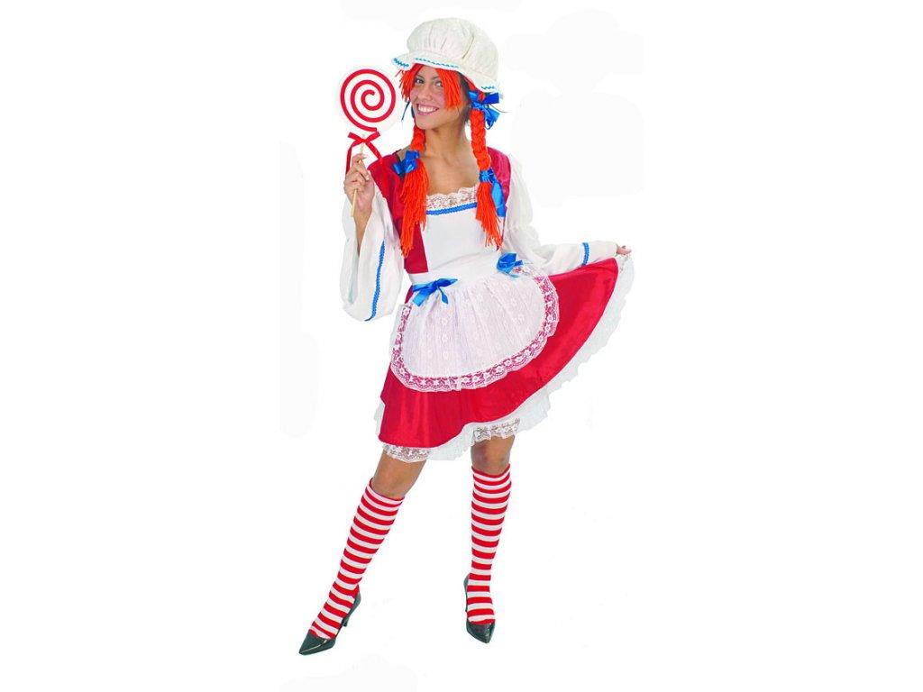 Pipi Punčochatá D  dámský karnevalový kostým