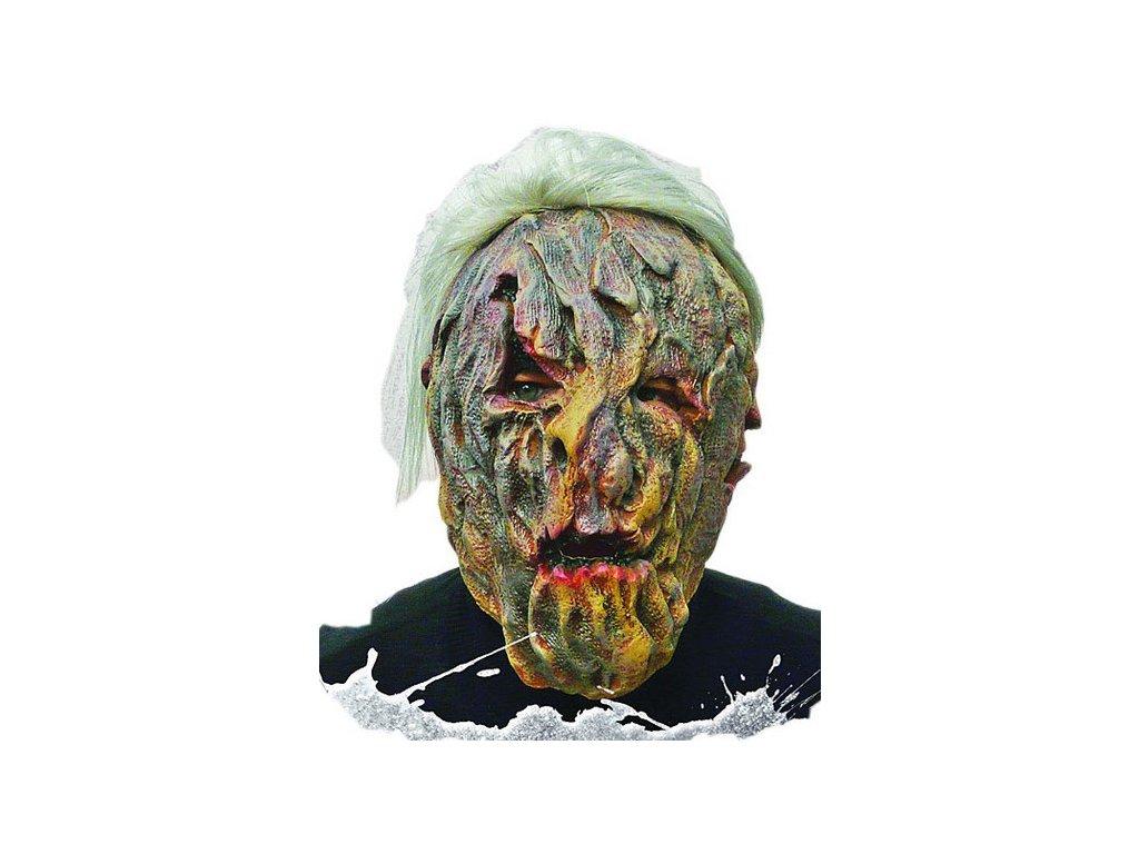 Maska latexová s vlasy Monstrum D  strašidelná maska vhodná nejen na Halloween