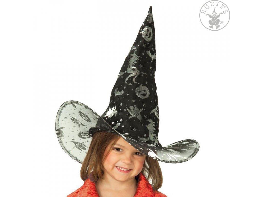 Dětský čarodějnický klobouk černý  Halloween