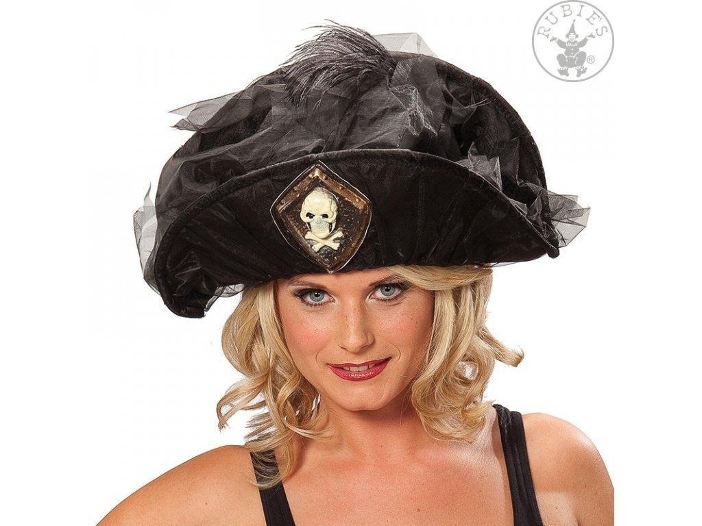 Pirátský klobouk s lebkou