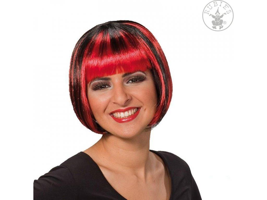 Trixy červeno-černá - karnevalová paruka D