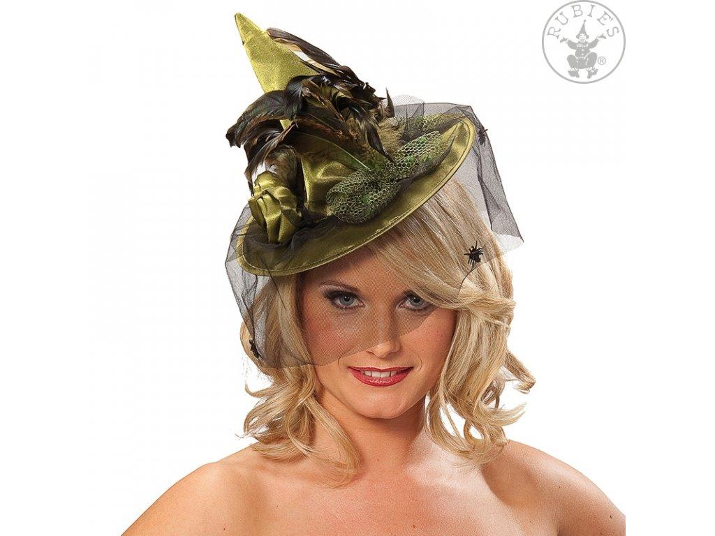 Čarodějnický lux - mini zelený D  dámský elegantní mini klobouček (ilustrační foto ve fialové barvě)