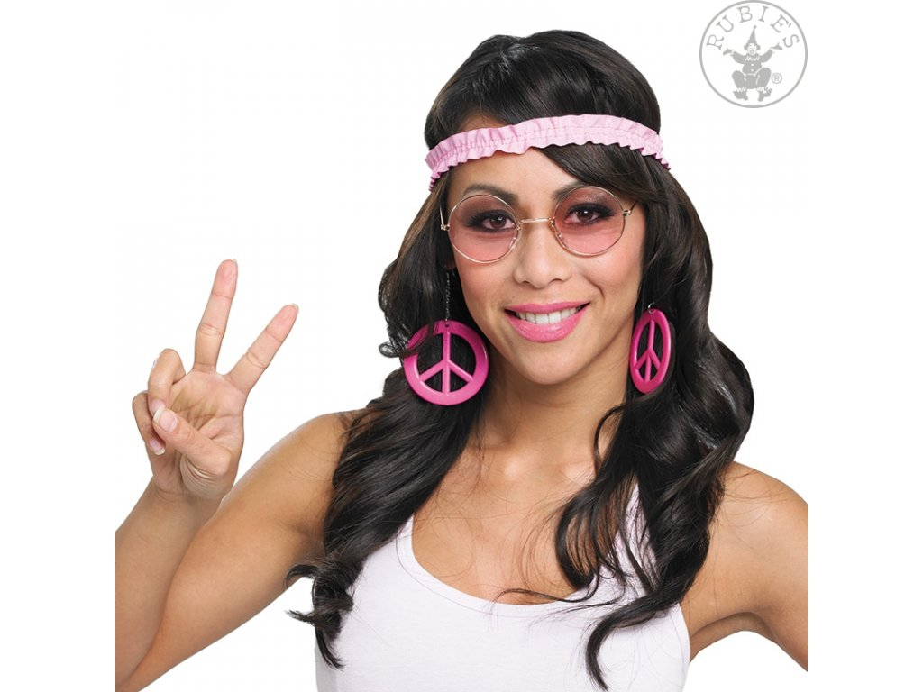 Hippie set - náušnice a čelenka
