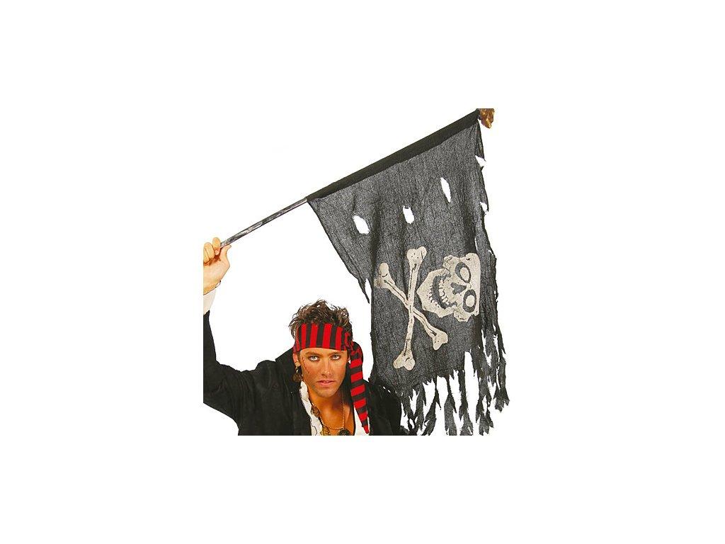 Pirátská vlajka 122 x 60 cm D