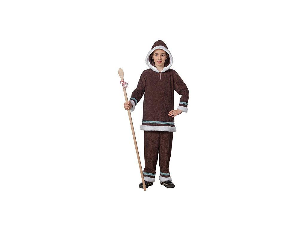 Eskymák - blůza a kalhoty D  dětský - chlapecký karnevalový - maškarní kostým