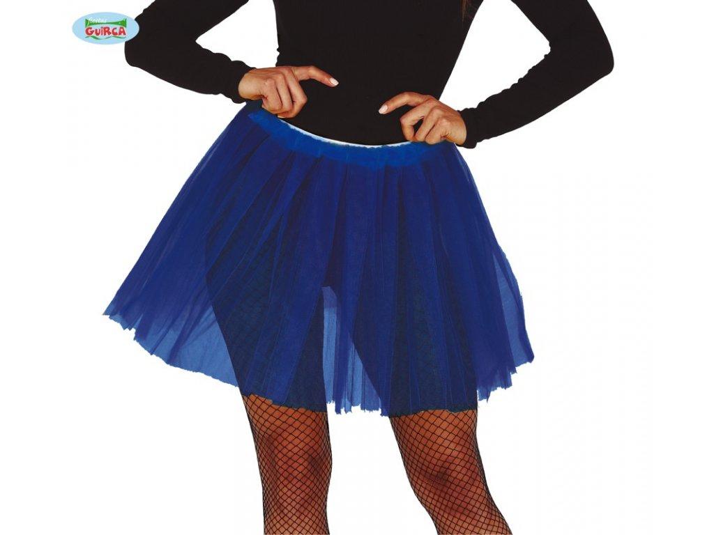 Dámská tylová sukně Tutu tmavě modrá 40 cm