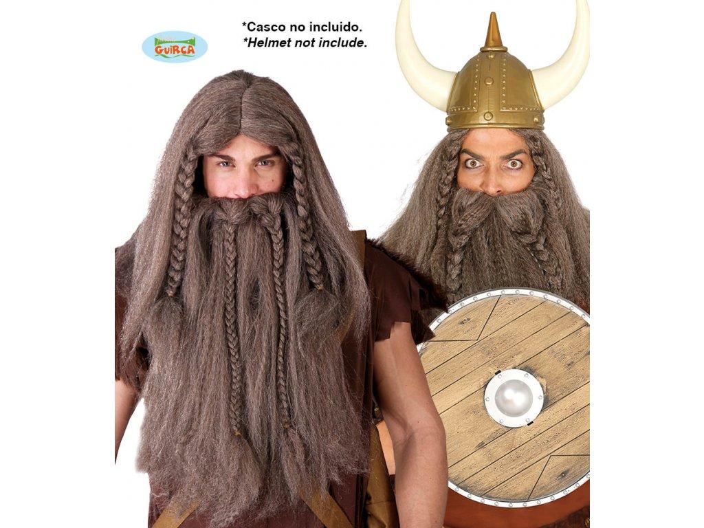 Paruka viking s vousy