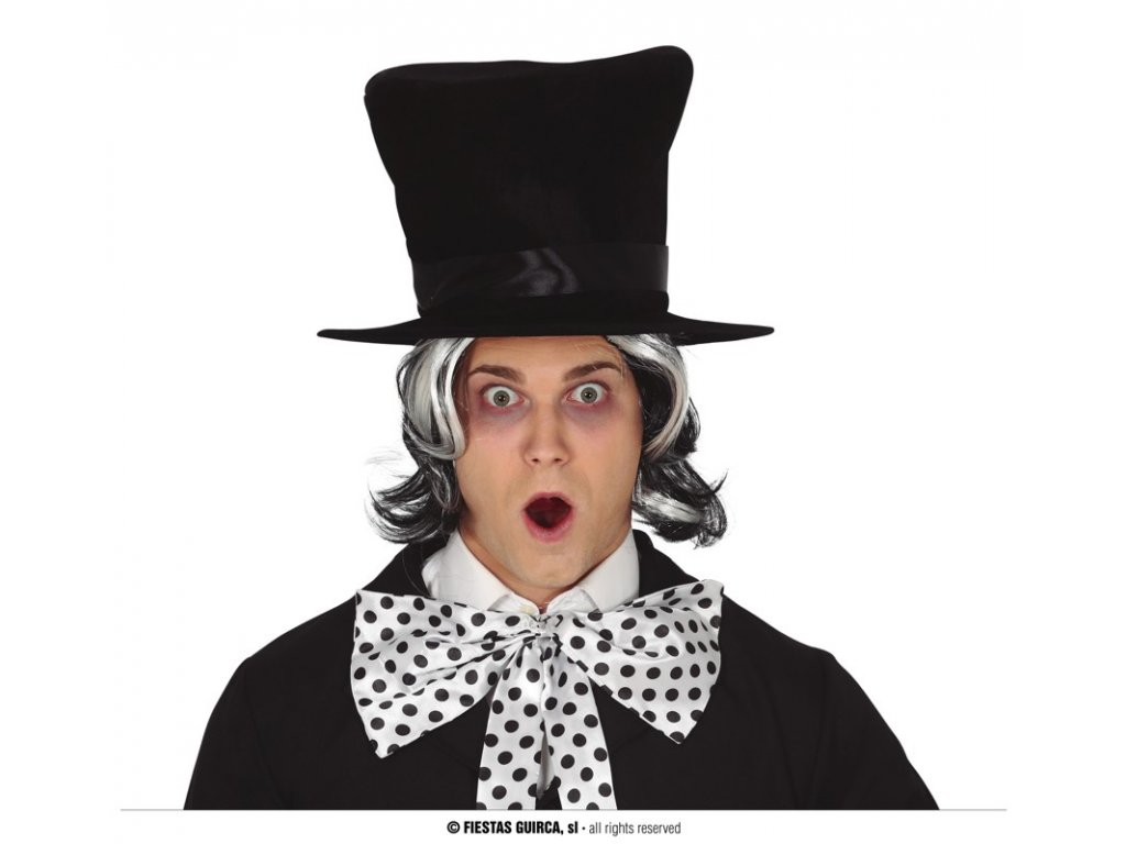 Sametový klobouk černý