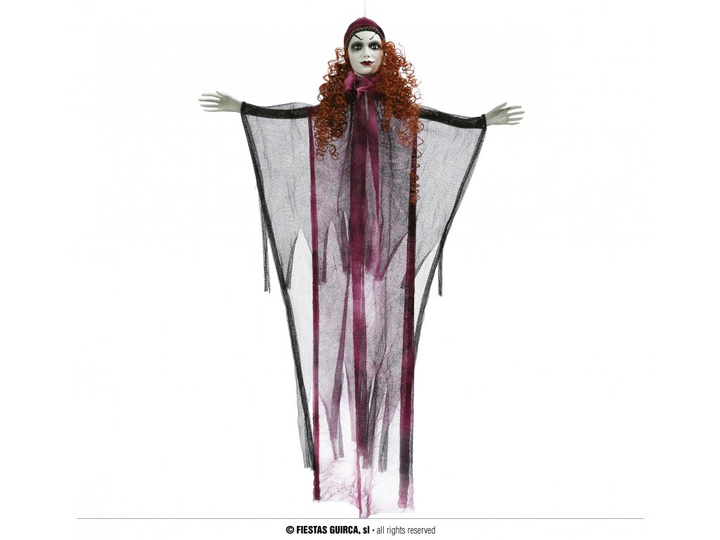 Závěsná věštkyně 50 cm - dekorace Halloween