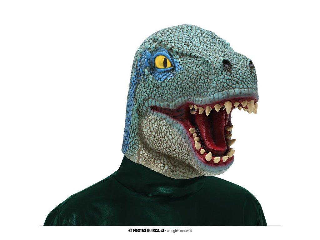 Latexová maska Dinosaurus