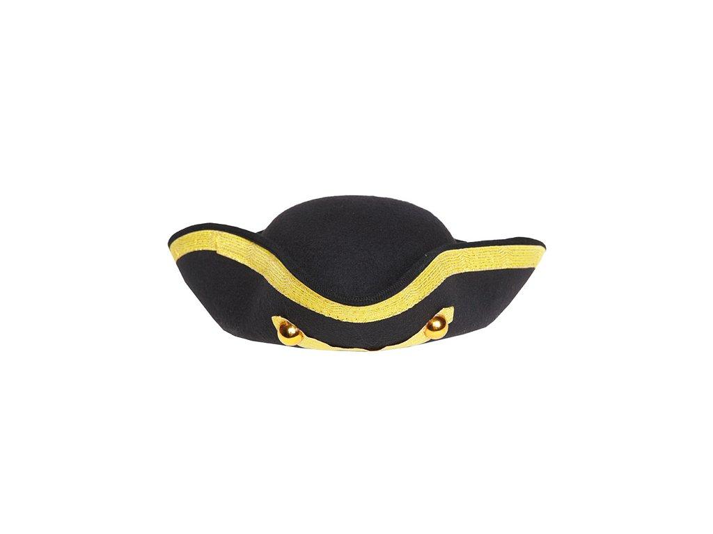 Vojenský třírohý klobouk zlatý, vel. 59 D