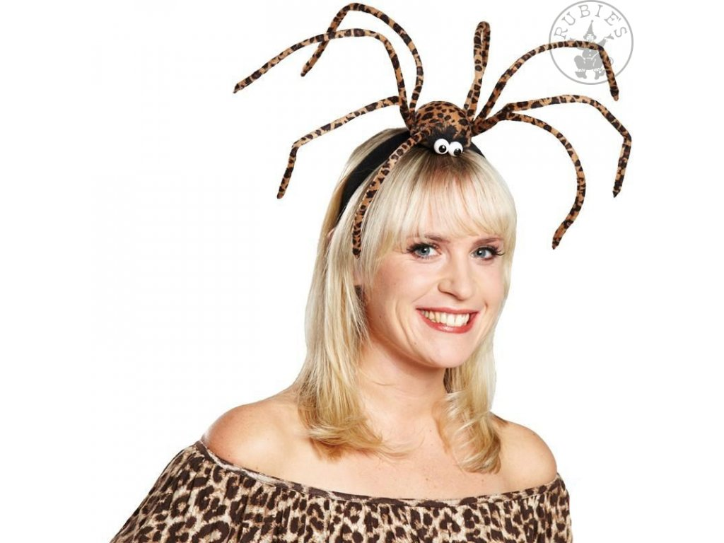 Spona s obřím pavoukem  čelenka do vlasů Halloween