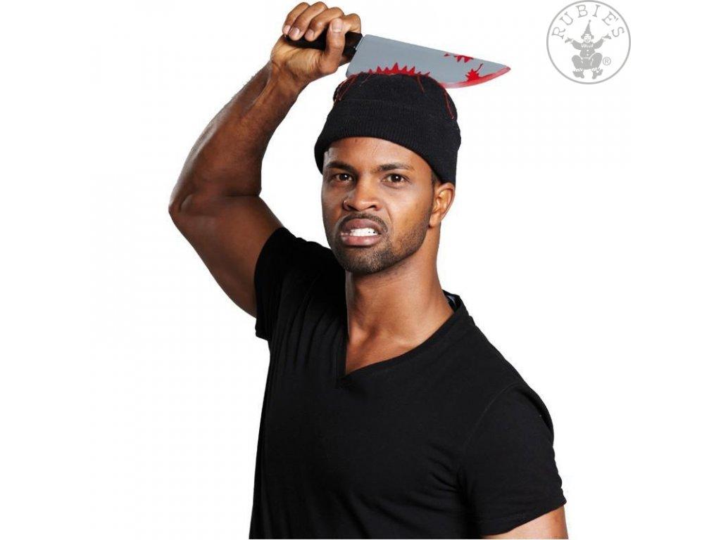 Čepice s nožem - Halloween