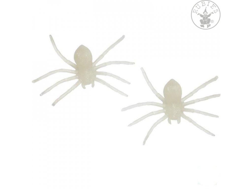 Pavouk fluoreskující - 2 ks  Halloween