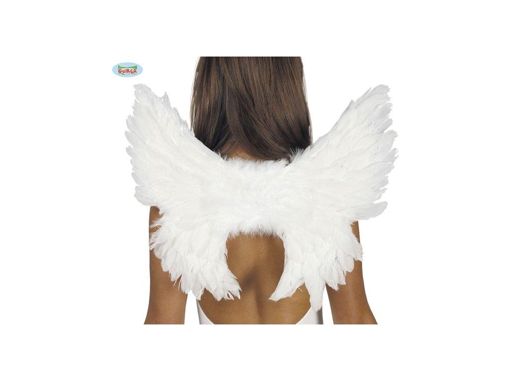 Bílá andělská křídla péřová