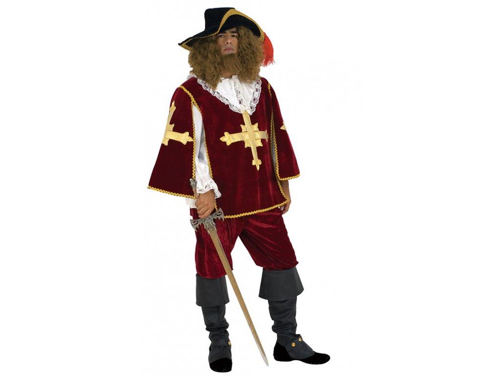 Mušketýr  - kostým  pánský karnevalový kostým