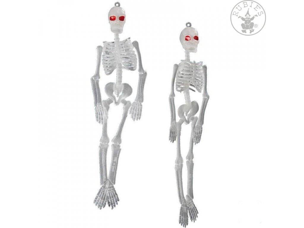 Závěsné kostry fluoreskující 2 ks - ca. 20 cm D  Halloween