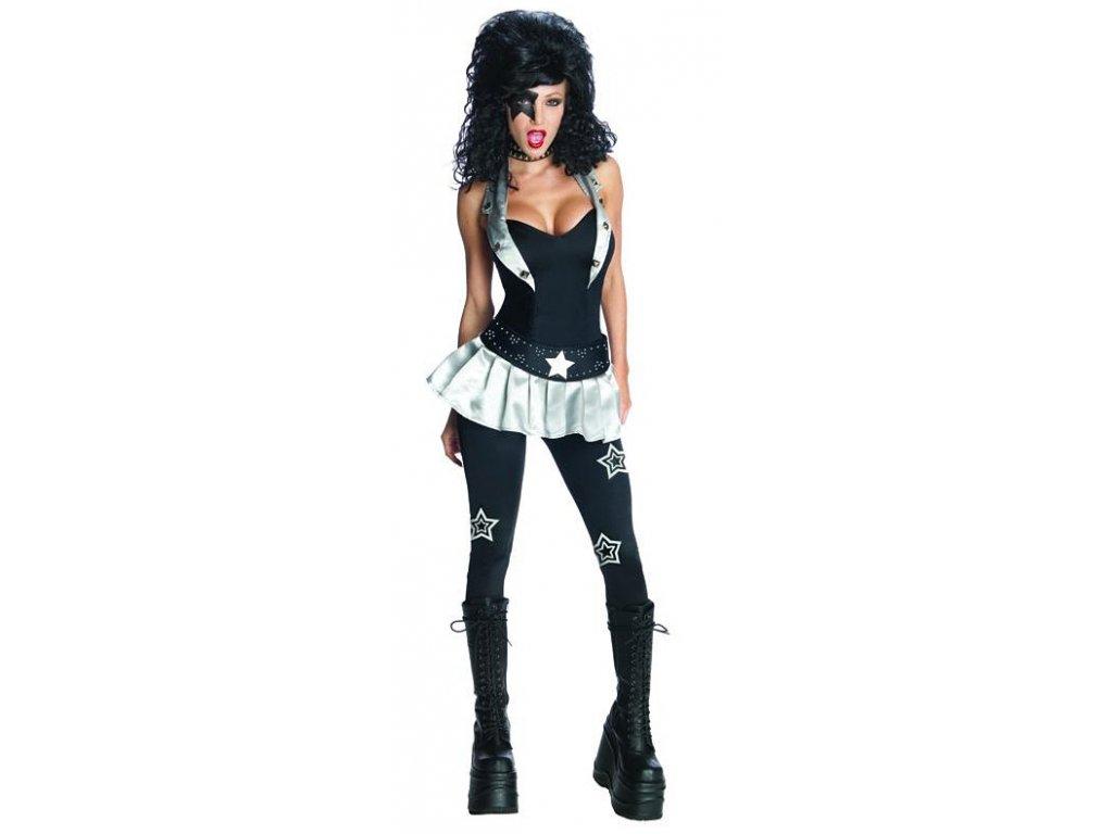 KISS Miss Starchild - licenční kostým D  dámský karnevalový kostým
