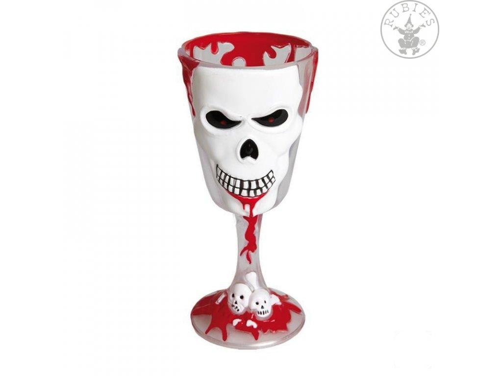 Sklenice horrorová se smrtkou  dekorace Halloween