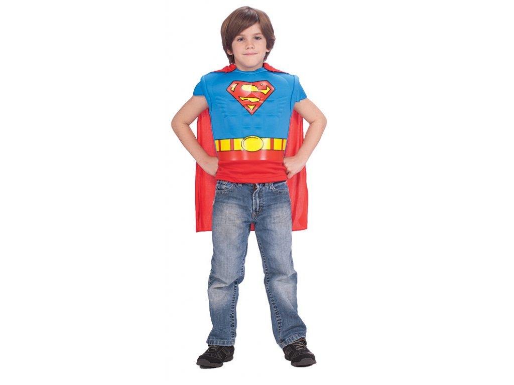 Kostým - Superman Muscle Chest Sh. 5 - 7 roků - licenční kostým X  dětský - chlapecký karnevalový - maškarní kostým