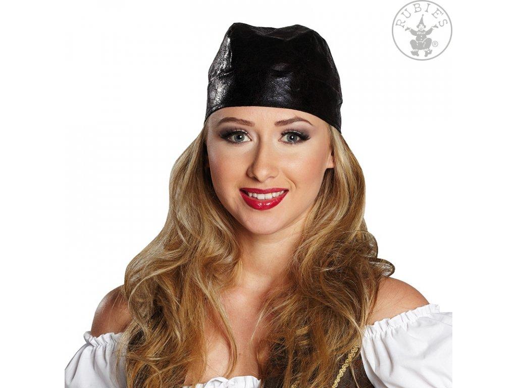 Pirátský šátek imitace kůže D