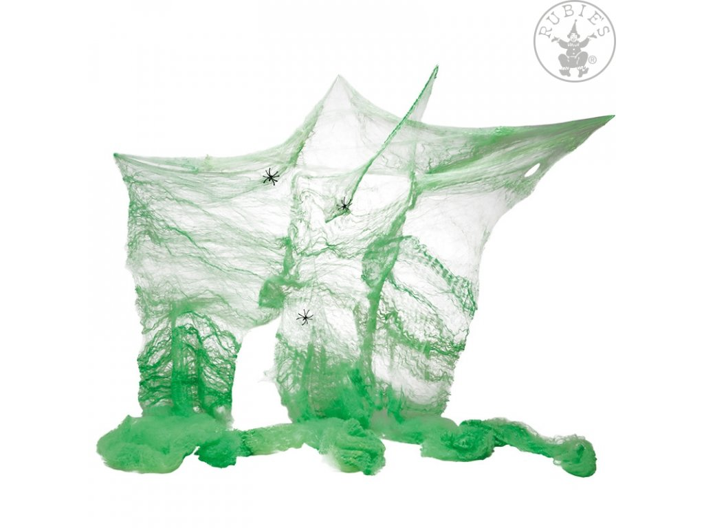 Pavučina zelená 60 gr.  Halloween