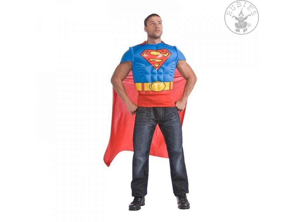 Superman - svalnaté triko s pláštěm - licenční kostým x  pánský karnevalový kostým