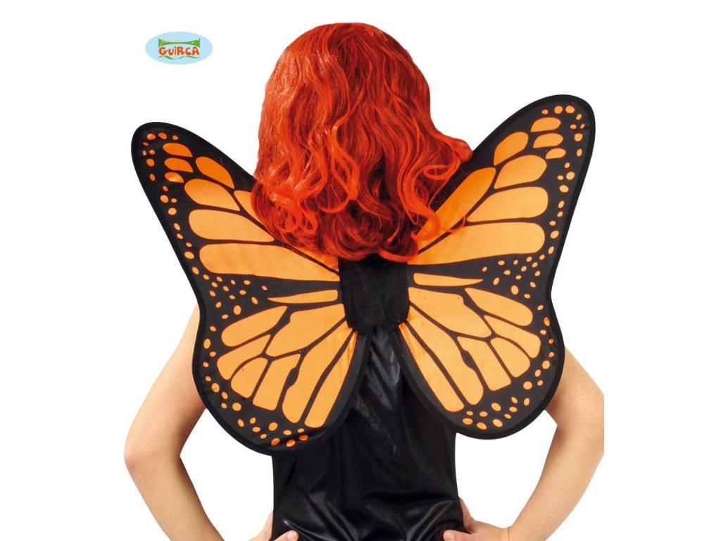 Křídla motýlí černo-oranžová