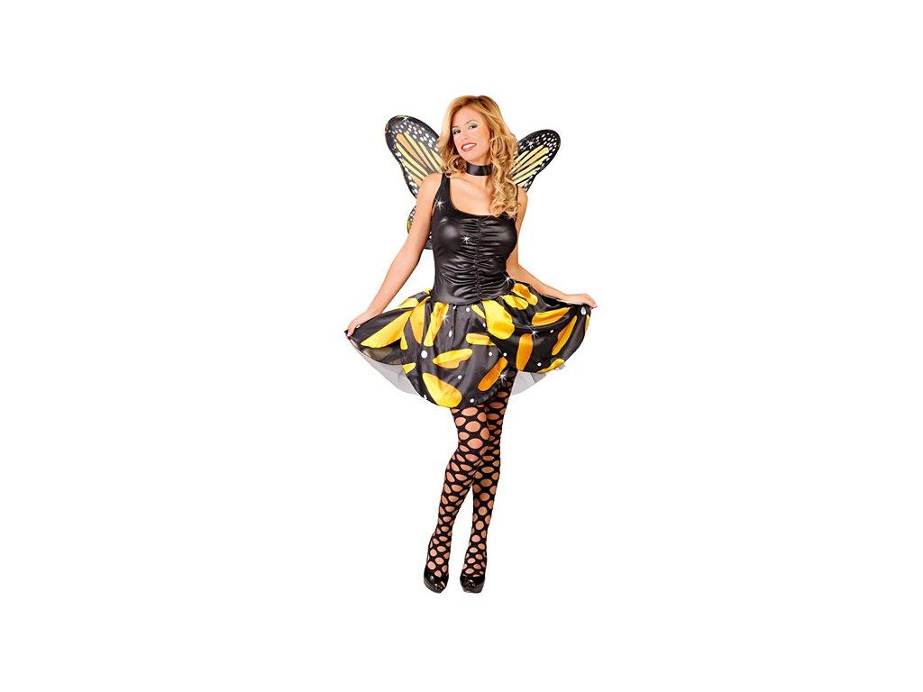Kostým motýl žlutý D  dámský karnevalový kostým