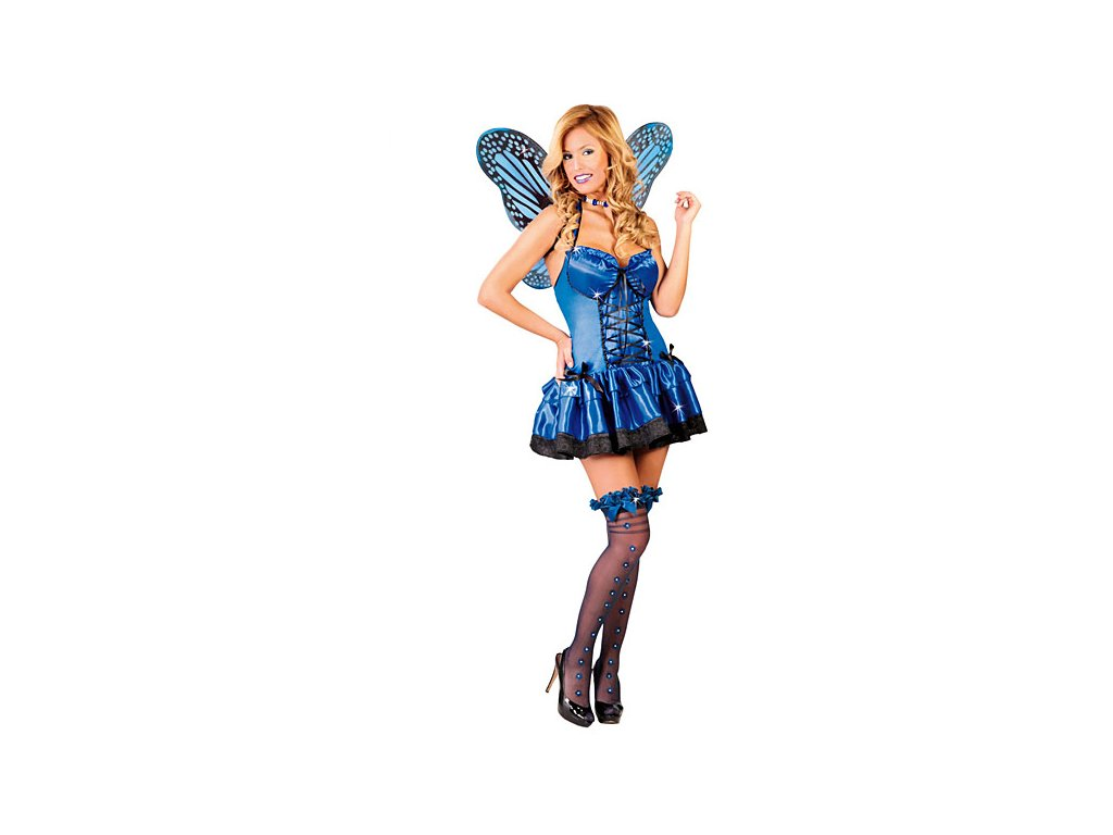 Kostým motýl modrý  dámský karnevalový kostým