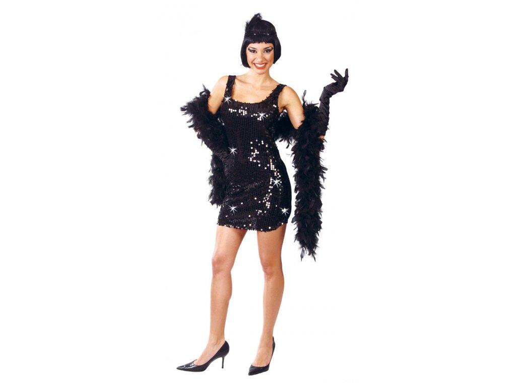 Charleston - černé šaty - D  dámský karnevalový kostým