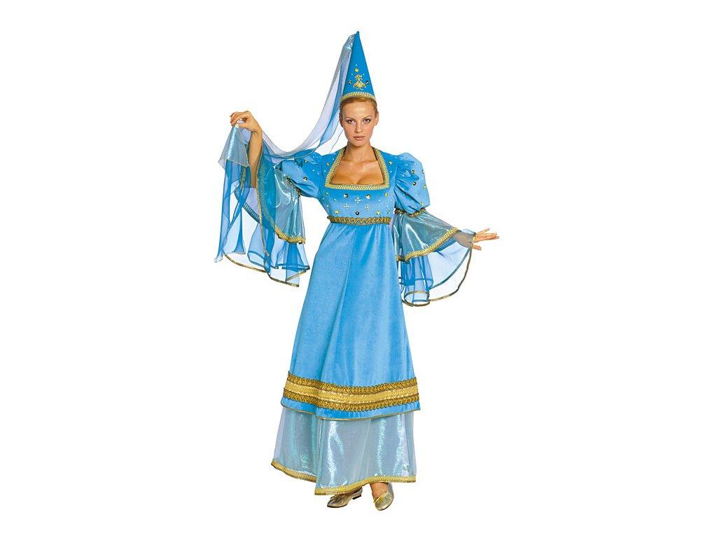Princezna modrá - kostým  dámský karnevalový kostým
