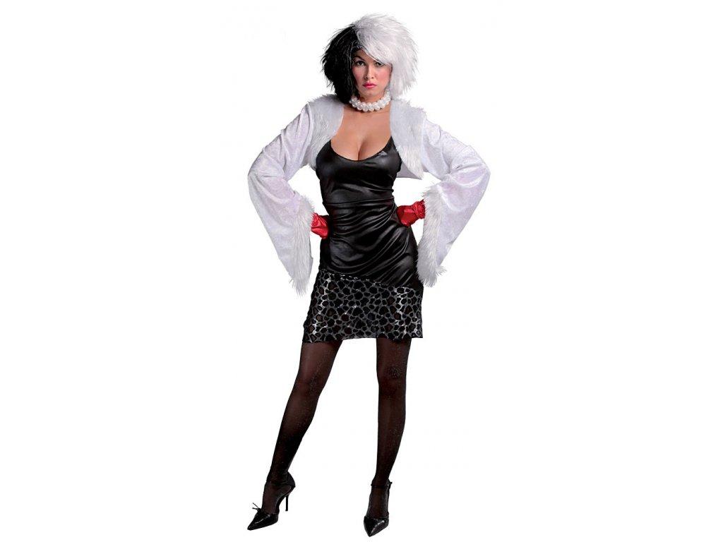 Kostým CRUELA - D  dámský karnevalový kostým