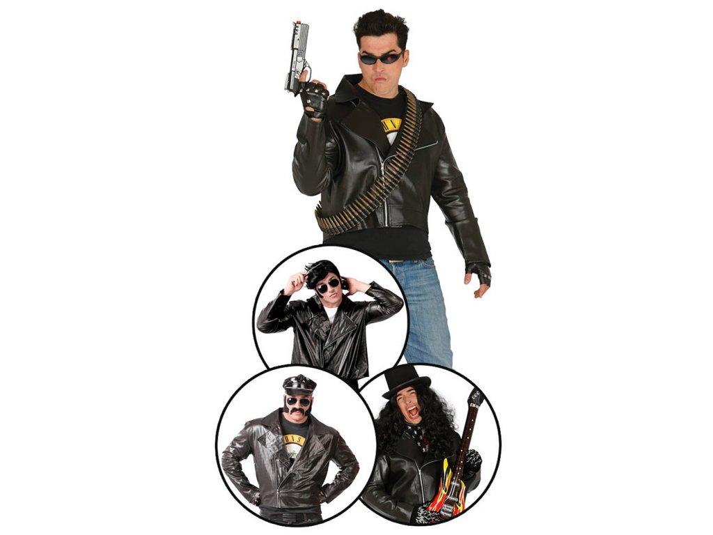 Černá bunda X  pánský karnevalový kostým