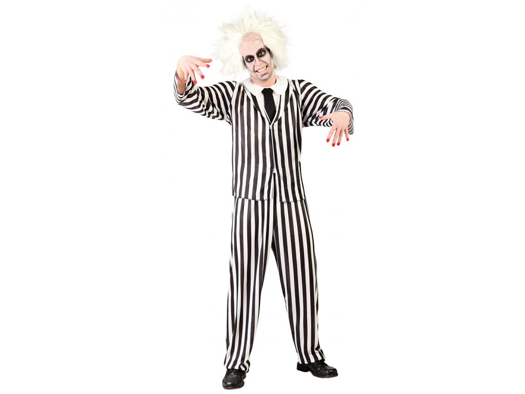 Kostým GRAZY GHOST  strašidelný pánský karnevalový kostým vhodný nejen na Halloween