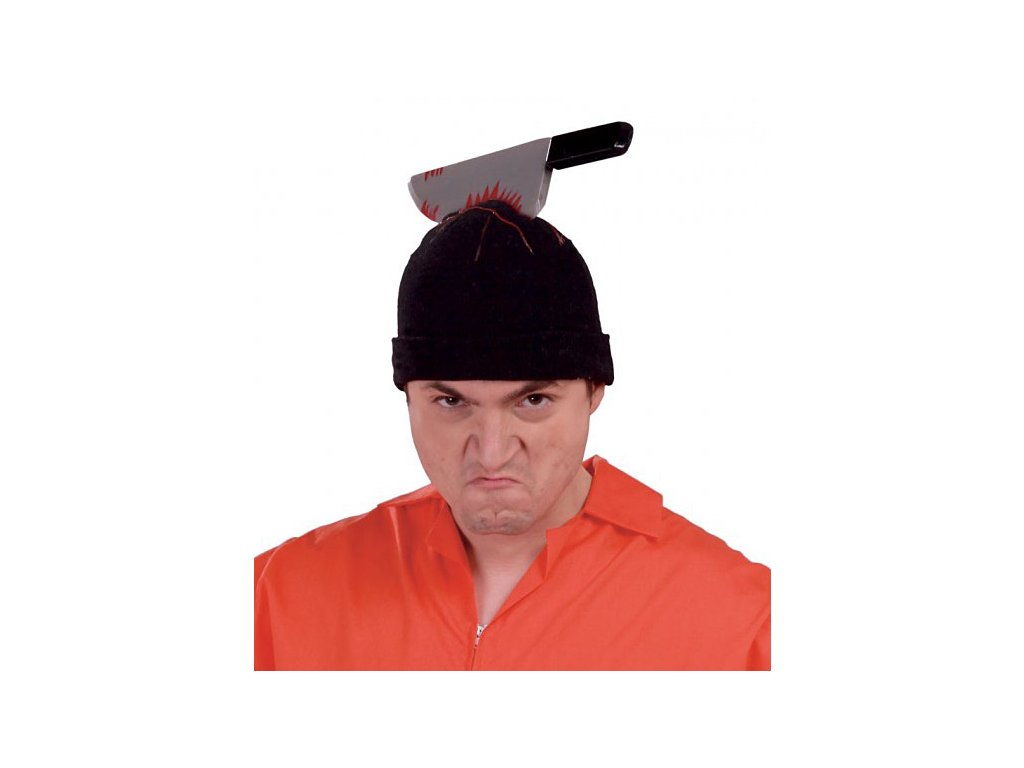 Čepička s nožem  Halloween