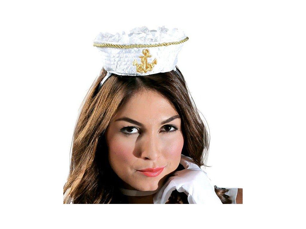 Mini klobouček námořnický na sponě X