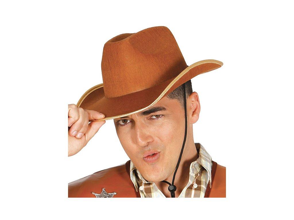 Kovbojský klobouk hnědý filcový