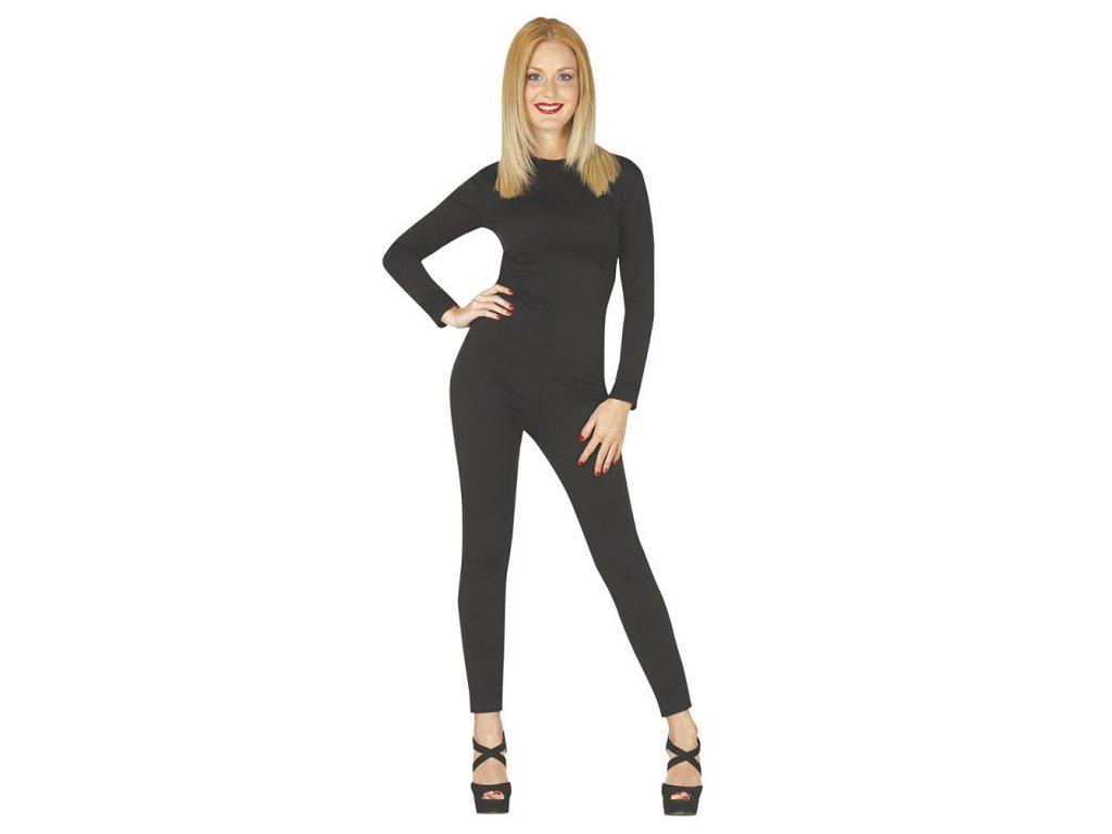 Dámský overal černý  dámský karnevalový kostým