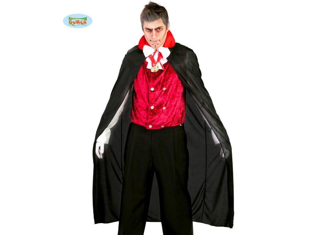Plášť upíra černo-červený 140 cm  pánský karnevalový kostým