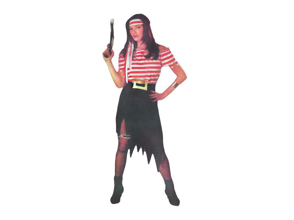 Pirátka s pruhy  dámský karnevalový kostým