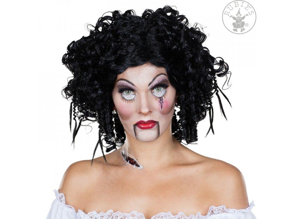 Gothic Doll Wig D  dámská paruka vhodná nejen na čarodějnice a Halloween + textilní rouška ke každé objednávce zdarma