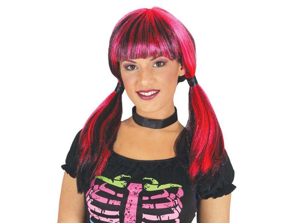 Paruka Betty růžovočerná