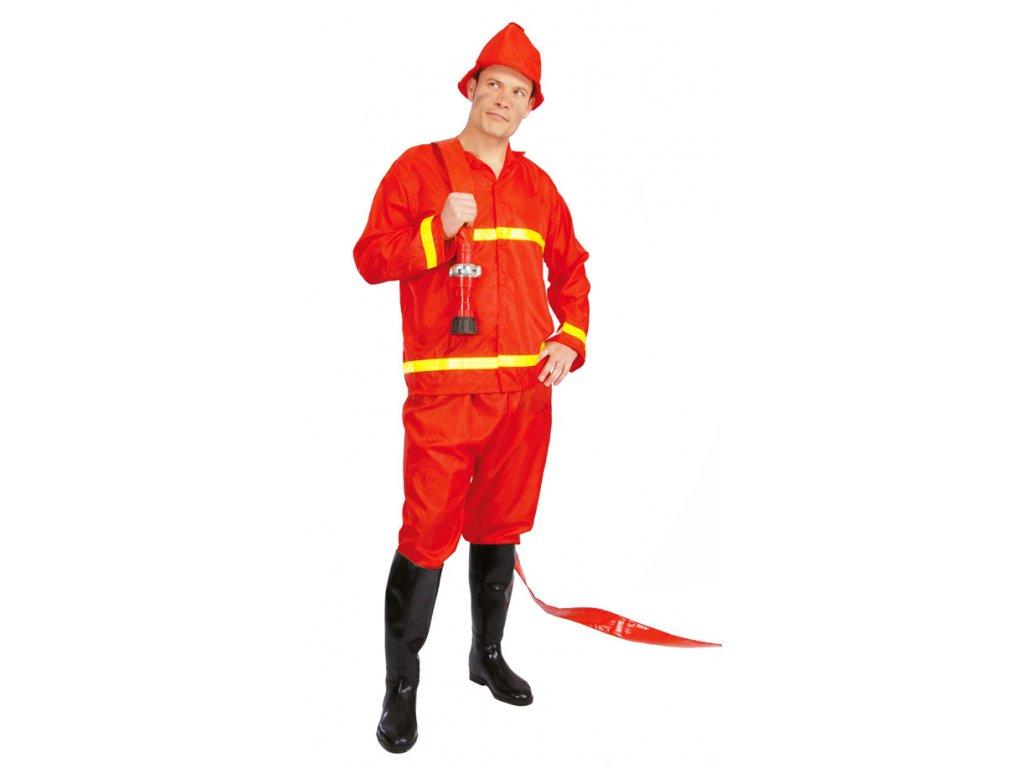 Hasič - kostým s čepičkou D  pánský karnevalový kostým