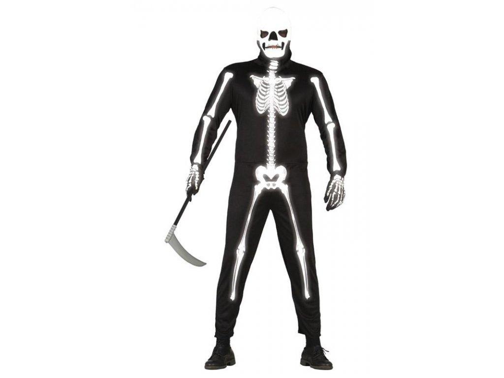 Skeleton - kostra  strašidelný pánský karnevalový kostým vhodný nejen na Halloween