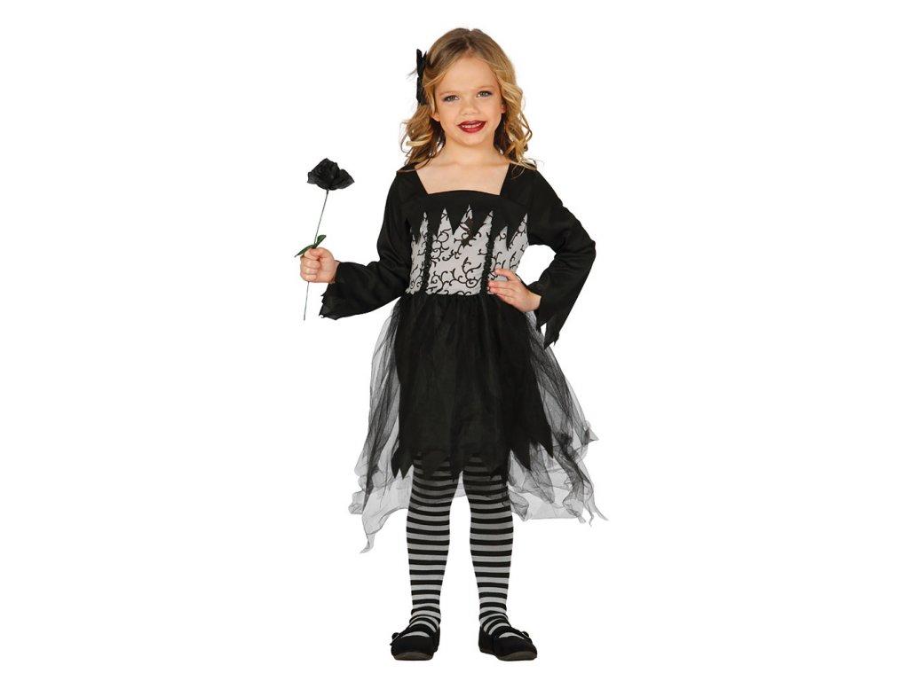 Miss gothique D  dětský dívčí karnevalový kostým vhodný nejen na Halloween