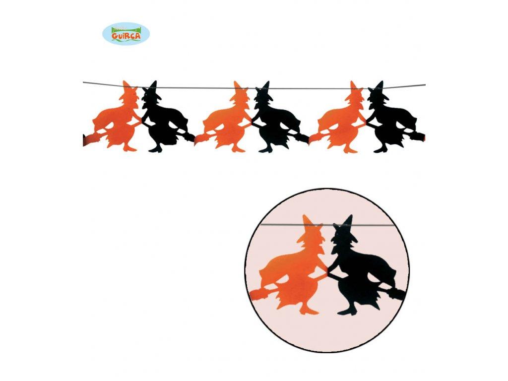 Girlanda čarodějnice 23 x 300 cm  Halloween