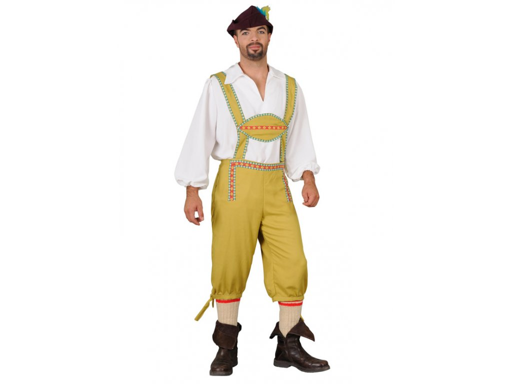 Kostým OKTOBERFEST okrový  pánský karnevalový kostým