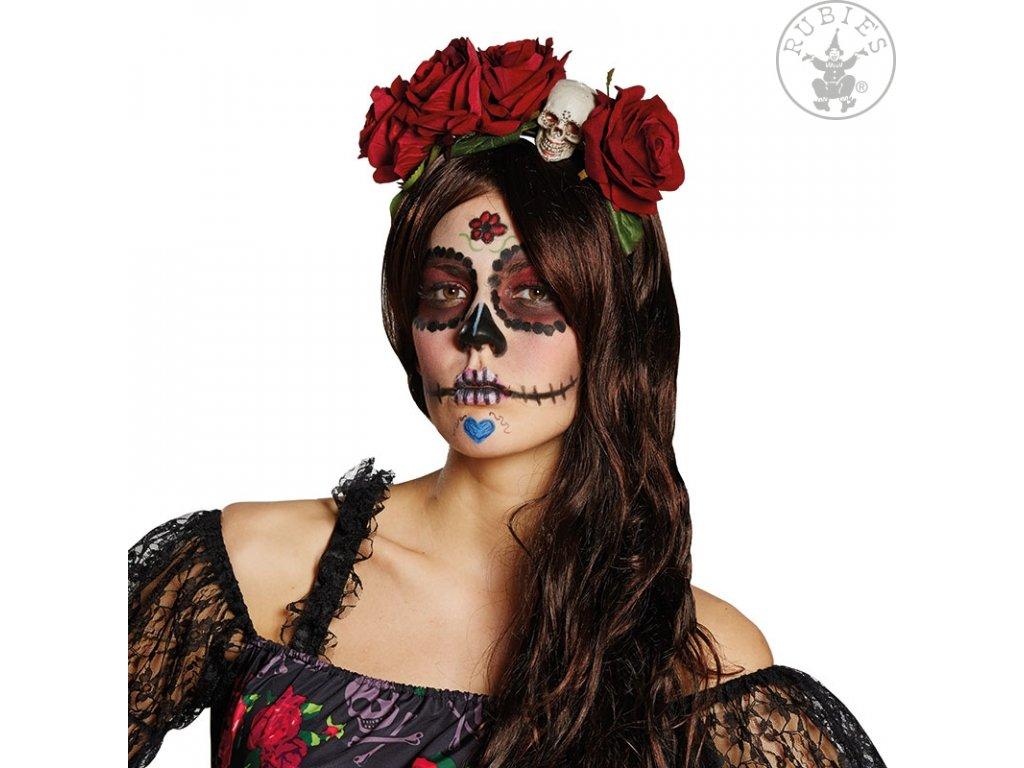 La Catrina - vlasová spona  Halloween