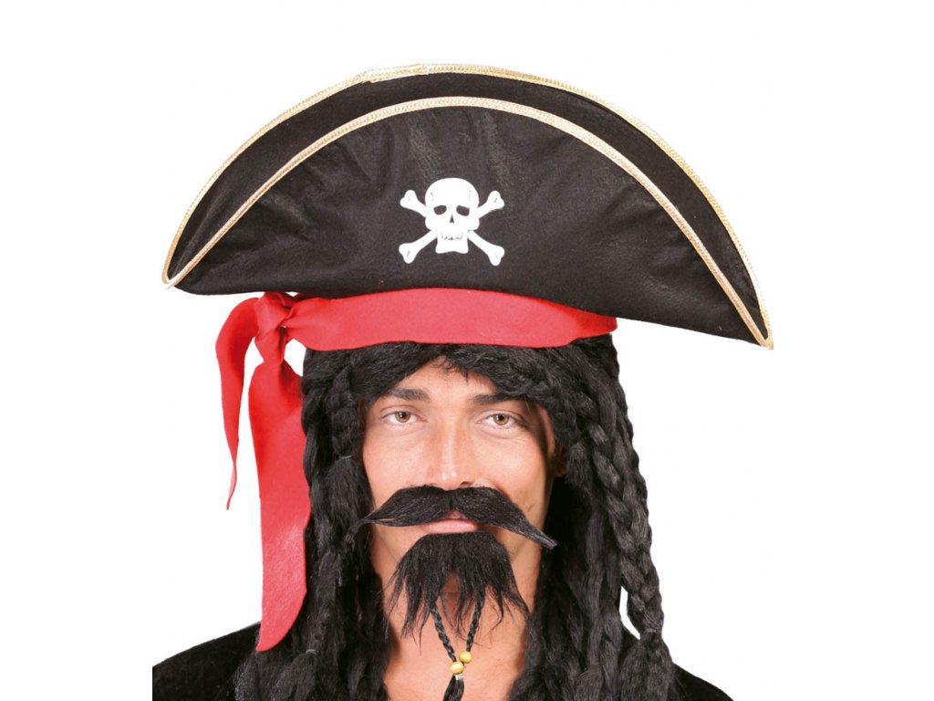 Pirátský klobouk pro dospělé se stuhou X